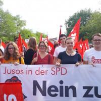Jusos beim Protestzug gegen den Auftritt von Björn Höcke in Elsenfeld